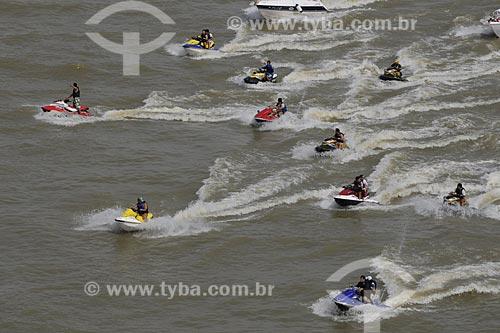 Assunto: Jet Ski - Procissão fluvial para Nossa Senhora de Nazaré - Círio de Nazaré - Rio Guajará / Local: Belém (PA) / Data: 11 de Outubro de 2008