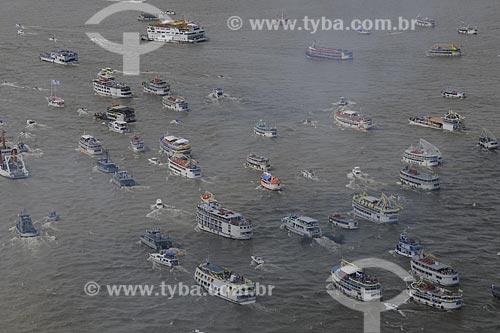 Assunto: Embarcações - Procissão fluvial para Nossa Senhora de Nazaré - Círio de Nazaré - Rio Guajará / Local: Belém (PA) / Data: 11 de Outubro de 2008