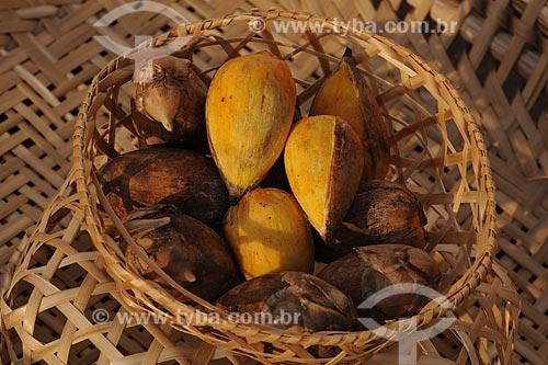 Assunto: Cesto com Inajá / Local: Belém (PA) / Data: 13 de Outubro de 2008