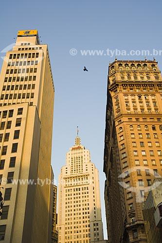 Assunto: Centro da cidade mostrando o edificio Martinelli à direita / Local: São Paulo - SP / Data: Junho de 2006