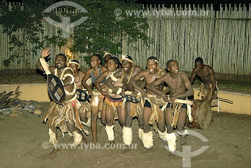 Assunto: Dança Zulú / Local: Mkuze - Kwazulu Natal - África do Sul / Data: 14 de Março de 2007