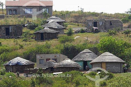 Assunto: Habitação típica Zulú / Local: Kwazulu Natal - África do Sul / Data: 14 de Março de 2007
