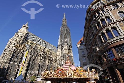 Assunto: Catedral de Santo Estevão - Stephansdom / Local: Viena - Áustria / Data: 22 de Abril de 2007