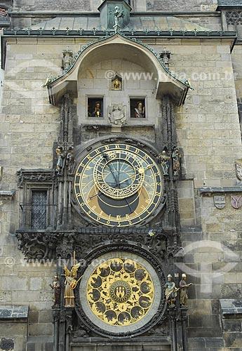 Assunto: Relógio Astronômico da Cidade Velha de Praga / Local: Praga - República Tcheca / Data: 24 de Abril de 2007
