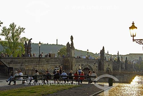 Assunto: Ponte Carlos em Praga / Local: Praga - República Tcheca / Data: 24 de Abril de 2007