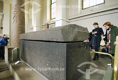 Assunto: Museu Britânico (British Museum) - Sarcófago de Nectanebo - Egito / Local: Londres - Inglaterra / Data: 26 de Abril de 2007