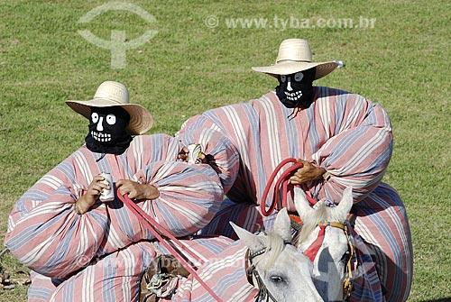 Assunto: Mascarados na Festa do Divino Espírito Santo em Pirenópolis / Local: Pirenópolis (GO) / Data: 27 de Maio de 2007