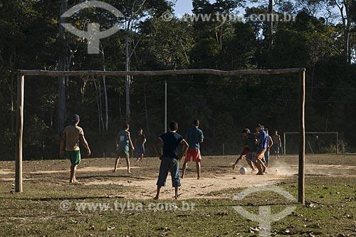 Assunto: Jogo de futebol na reserva extrativista Chico Mendes / Local: Acre (AC) / Data: 06 de Julho de 2008