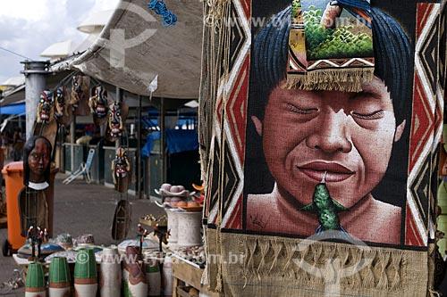Assunto: Artesanato à venda nas barracas do mercado Ver-o-peso / Local: Belém (PA) / Data: 24 de Julho de 2008