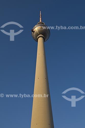 Assunto: Vista da torre de televisao de Alexanderplatz, lugar turistico e icone da cidade de Berlim / Local: Berlim - Alemanha / Data: 27 de Setembro de 2008