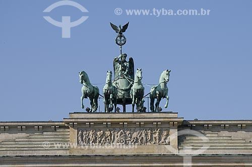 Assunto: Detalhe da escultura sobre a porta de Brandenburger / Local: Berlim - Alemanha / Data: 27 de Setembro de 2008