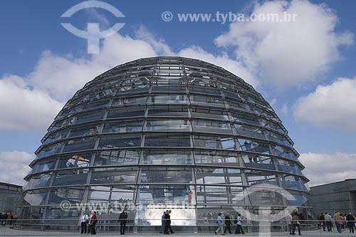 Cupula em vidro do Reischstag, em Berlim / Local: Berlim - Alemanha / Data: 27 de Setembro de 2008