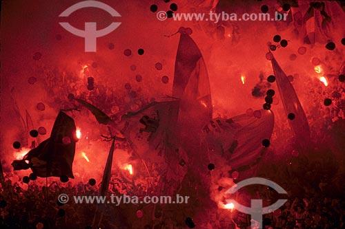 Assunto: Torcida do Flamengo no MaracanãLocal: Rio de Janeiro - RJ - BrasilData: 30/08/1999