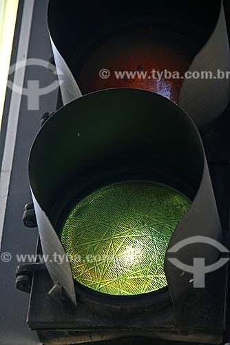 Assunto: Detalhe de sinal de trânsito do Centro do Rio de Janeiro / Local: Rio de Janeiro (RJ) / Data: 13 de Maio de 2008