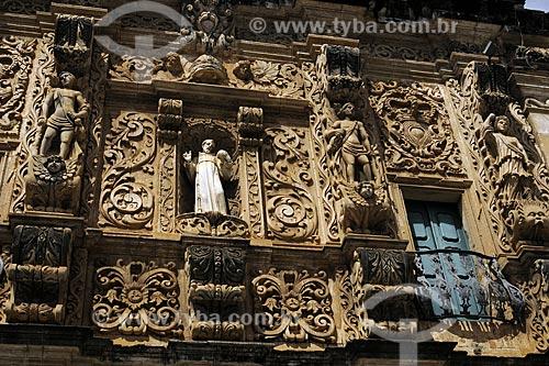 Assunto: Fachada da Igreja Ordem Terceira de São Francisco (1702). Estilo: Variado, lembra o barroco plateresco da américa espanhola / Local: Salvador (BA) / Data: 18 de Julho de 2008