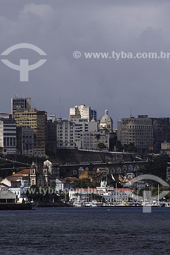 Assunto: Vista de Salvador a partir do mar (Baía de Todos os Santos) / Local: Salvador - BA / Data: 07/2008