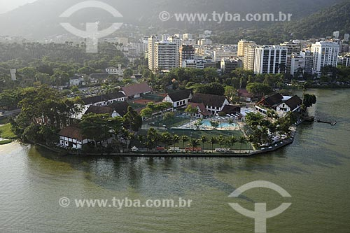 Assunto: Vista aérea do Clube Piraquê - Lagoa Rodrigo de Freitas / Local: Rio de Janeiro - RJ - Brasil / Data: Novembro de 2008
