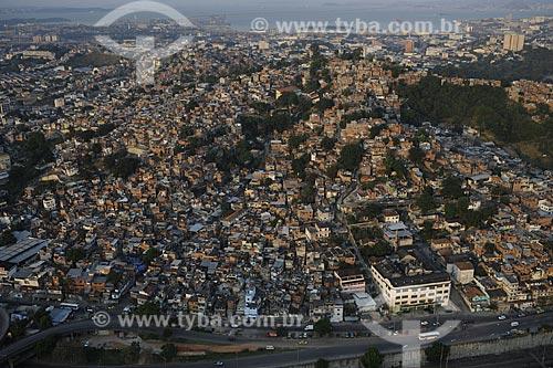 Assunto: Vista aérea da Favela da Mangueira / Local: Rio de Janeiro - RJ - Brasil / Data: Novembro de 2008