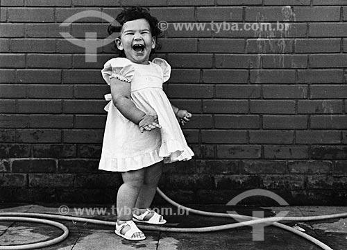 Assunto: Criança sorrindo (Liza Reis) / Local: Rio de Janeiro - RJ - Brasil / Data: 1985