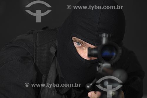 Assunto: Polícia - BOPE (Batalhão de Operações Especiais) / Local: Rio de Janeiro - RJ - Brasil / Data: 01/05/2005