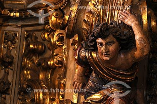 Assunto: Detalhe de esculturas em estilo colonial barroco mineiro na Igreja Nossa Senhora do Pilar / Local: Ouro Preto - Minas Gerais (MG) - Brasil / Data: 21/04/2009