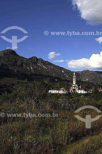Assunto: Colégio do Caraça  - Primeira igreja neogótica do Brasil (1700) - Santuário Ecológico / Local:  Parque Natural do Caraça  - Minas Gerais (MG) - Brasil / Data: 21/04/2009
