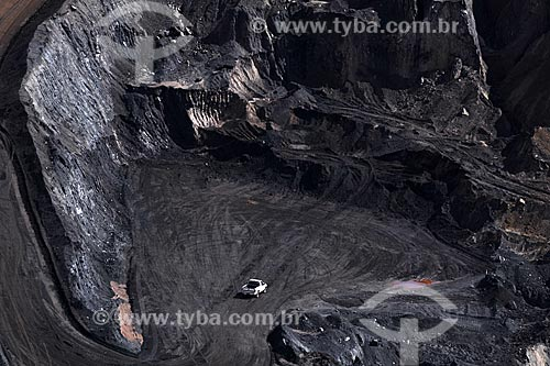 Assunto: Minério de ferro na Mina do Tamanduá  / Local: Nova Lima - Minas Gerais (MG) - Brasil / Data: 17-04-2009