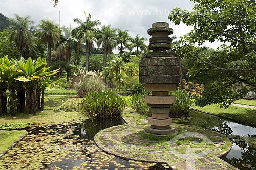 Assunto: Jardim criado por Roberto Burle Marx na Fazenda Vargem Grande, da família de Clemente Gomes / Local: Areias - São Paulo (SP) - Brasil / Data: Fevereiro 2008