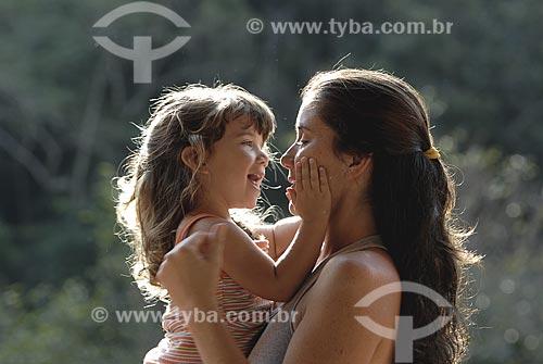 Assunto: Mãe e filha / Local: Visconde de Mauá - RJ/MG - Brasil / Data: 2008
