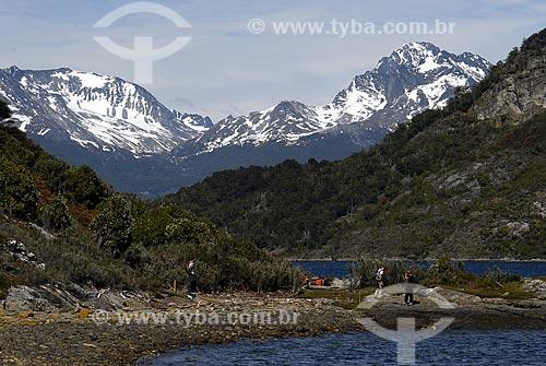 Assunto: Vista da trilha costeira no Parque Nacional Terra do Fogo em Ushuaia.  Baía Lapataia / Local: Ushuaia - Argentina / Data: 11 / 2008