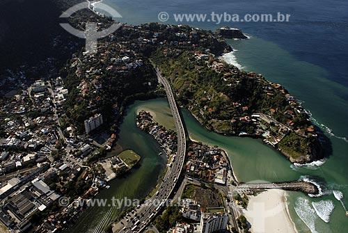 Assunto: Vista aérea do Elevado do Joá - Boca do Canal de Marapendi / Local: Barra da Tijuca - Rio de Janeiro - RJ - Brasil / Data: 06/2008