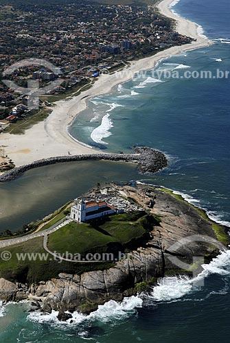Assunto: Vista aérea da Igreja de Nossa Senhora de Nazaré / Local: Saquarema - RJ - Brasil / Data: 06/2008