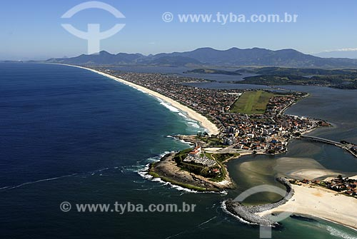 Assunto: Vista aérea de Saquarema / Local: Saquarema - RJ - Brasil / Data: 06/2008