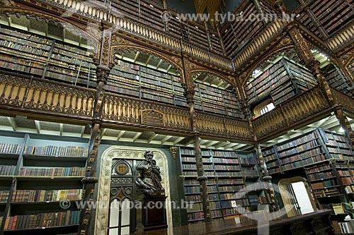 Assunto: Real Gabinete Portugues de Leitura. A maior biblioteca de autores portugueses fora de Portugal / Local: Centro - Rio de Janeiro - Rio de Janeiro (RJ) - Brasil / Data: 2008
