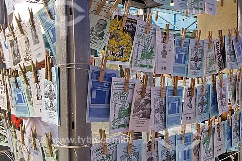 Assunto: Literatura de Cordel à venda no Centro Luís Gonzaga de Tradições Nordestinas, também conhecido como Feira de São Cristóvão, ou Feira dos Paraíbas / Local: São Cristóvão - Rio de Janeiro - Rio de Janeiro (RJ) - Brasil / Data: 2008