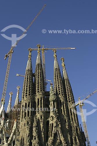 Assunto: Catedral da Sagrada Familia ainda em construção / Local: Barcelona - Espanha / Data: 2006