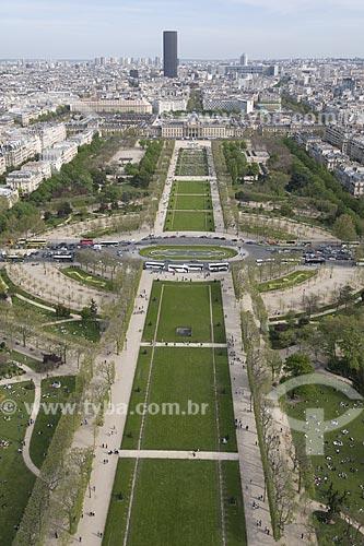 Assunto: Vista do Campos de Março ( Champs de Mars ) a partir do alto da Torre Eiffel / Local: Paris - França / Data: 2008