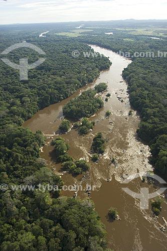 Assunto: Rio Uraricoera, perto da ESEC Maracá, na ilha de Maracá, a noroeste de Boa Vista / Local: Roraima (RR) - Brasil / Data: Janeiro de 2006