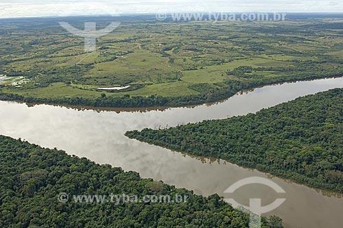 Assunto: Rio Uraricoera, perto da ESEC Maracá, na ilha de Maracá, a noroeste de Boa Vista / Local: Roraima (RR) - Brasil / Date: Janeiro de 2006