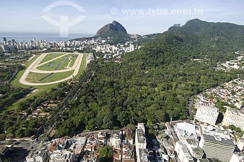 Assunto: Vista aérea do Jardim Botânico do Rio de Janeiro e do Jockey Club / Local: Rio de Janeiro - RJ - Brasil / Data: Dezembro de 2006