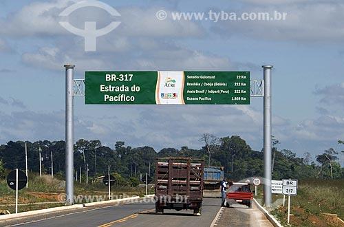 Asunto: Estrada do Pacífico - BR-317 / Local: Rio Branco - Acre - Brasil / Data: 06/2008