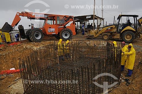 Assunto: Construção da Estação do Teleférico do Morro do Adeus - Obras do PAC - Programa de Aceleração do Crescimento / Local: Complexo do Alemão - Zona Norte do Rio de Janeiro - Brasil / Data: Agosto 2009
