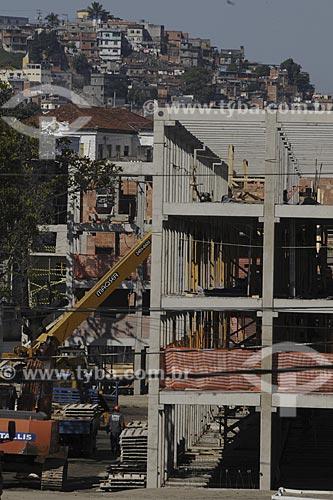Assunto: Construção de prédio residencial do PAC - ManguinhosLocal: Manguinhos - Rio de Janeiro (RJ) - BrasilData: 07/07/2009