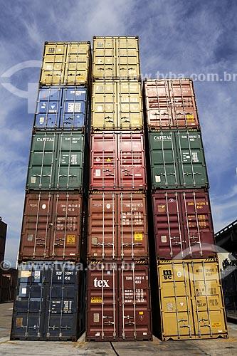 Assunto: Porto do Rio de Janeiro - Terminal de ContainerLocal: Rio de Janeiro (RJ) - BrasilData: Julho de 2009