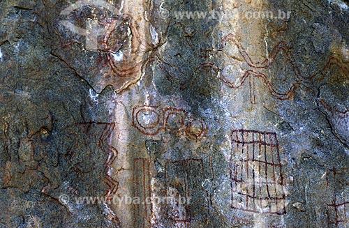 Assunto: Inscrições rupestres no Sítio Arqueológico da Pedra Pintada / Local: Pacaraima - Roraima (RR) - Brasil / Data: Março de 2009