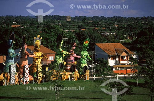 Assunto: Alegorias do Festival Folclórico de Parintins / Local: Parintins - Amazonas (AM) - Brasil / Data: Julho de 2005