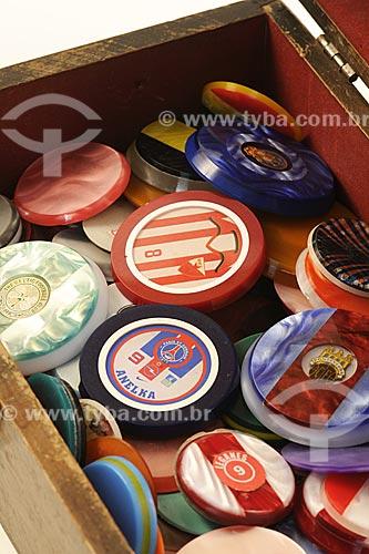Assunto: Caixa de botões - Futebol de Botão / Local: Rio de Janeiro - RJ / Data: Julho de 2009