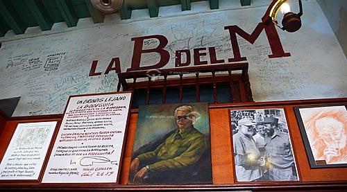 Assunto:  La Bodeguita del Medio, bar - restaurante preferido pelo escritor americano Ernest Heminguay para tomar a bebida típica cubana