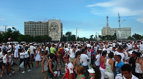 Assunto: Multidão no show pela Paz na Praça da Revolução  / Local: Havana - Cuba / Date: outubro 2009