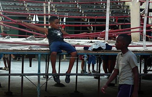 Assunto: Crianças na escolinha de boxe  / Local: Havana - Cuba / Date: outubro 2009